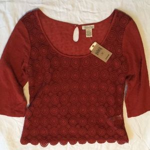 NWT Lucky Brand crochet top